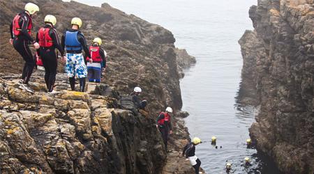 Coasteering in Guernsey